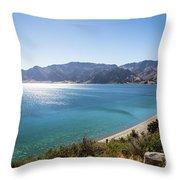 Stunning Hawea Lake In New Zealand Throw Pillow