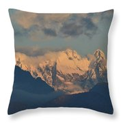 Stunning Landscape View Of The Italian Alps  Throw Pillow