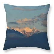 Stunning Scenic View Of The Dolomites Mountains In Italy  Throw Pillow