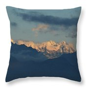 Stunning View Of The Pretty Dolomite Mountains In The Alps Of It Throw Pillow