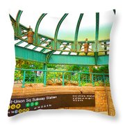 Subway Station 2 Throw Pillow