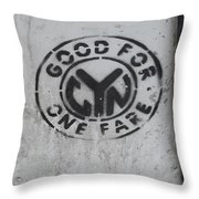 Subway Token Throw Pillow