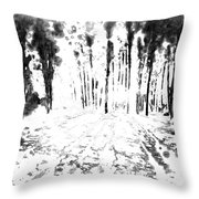 Sumie Landscape Throw Pillow