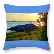 Summer Sunset View Throw Pillow