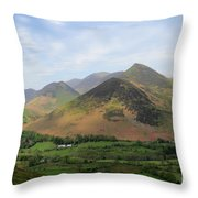 Summer, The Newlands Valley, Lake District National Park Throw Pillow