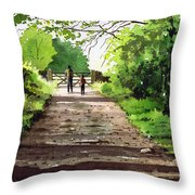 Summers Day Hardcastle Crags. Throw Pillow