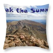 Summit Of Mount Bierstadt In The Arapahoe National Forest Throw Pillow
