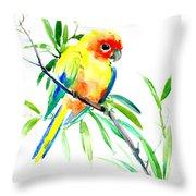 Sun Parakeet Throw Pillow