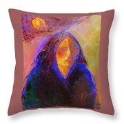 Sun Power Throw Pillow by Johanna Elik