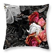 Sundial Bouquet Throw Pillow