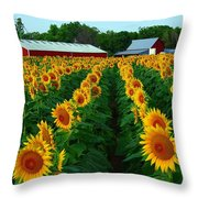 Sunflower Field #4 Throw Pillow