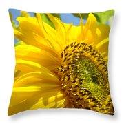 Sunflowers Art Prints Sun Flower Giclee Prints Baslee Troutman Throw Pillow