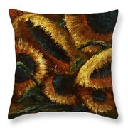 Sunflowers Throw Pillow by Michael Lang