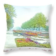 Sunken Gardens Fairmount Park Philadelphia 1907 Throw Pillow
