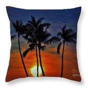 Sunlit Palms Throw Pillow