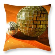 Sunlit Spheres Throw Pillow