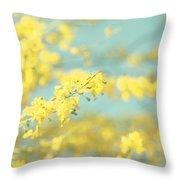 Sunny Blooms 2 Throw Pillow