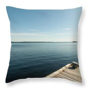 Sunny Day At The Dock Throw Pillow