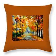 Sunny October Throw Pillow