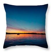 Sunrise Above Lake Water Summer Time Latvia Ezera Skanas Throw Pillow