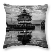 Sunrise At Drum Point Lighthouse Throw Pillow