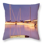 Sunrise At West Bay Osterville Cape Cod Throw Pillow