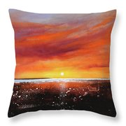 Sunrise Beach Throw Pillow