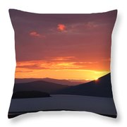 Sunrise Between Two Mountains Throw Pillow