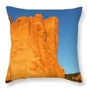 Sunrise In Garden Of The Gods Throw Pillow