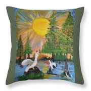 Sunrise In The Pelican State Throw Pillow