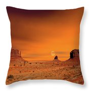 Sunrise Monument Valley Throw Pillow