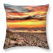 Sunrise Outer Banks Of North Carolina Seascape Throw Pillow