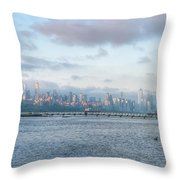 Sunrise Over New York City Throw Pillow