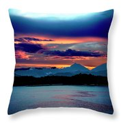 Sunrise Over Uruguay Throw Pillow