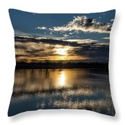 Sunrise Reflections On The Great Plains Throw Pillow