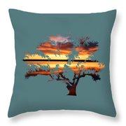 Sunrise Tree Throw Pillow
