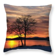 Sunrise Winnipesaukee Throw Pillow