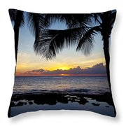 Sunset - Oahu West Shore Throw Pillow