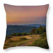 Sunset Above Craigs Hut  In The Victorian Alps, Australia Throw Pillow