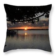 Sunset At Islamorada Throw Pillow