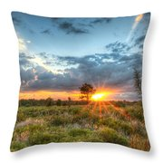 Sunset At The Field Of Dreams Throw Pillow