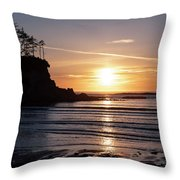 Sunset Bay Moments Throw Pillow