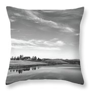 Sunset Clouds Over Wyoming Throw Pillow