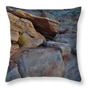 Sunset Comes To Valley Of Fire Throw Pillow