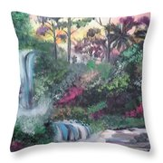 Sunset Falls Throw Pillow