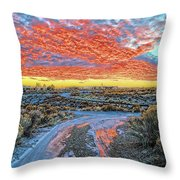 Sunset In El Prado Throw Pillow