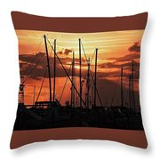 Sunset In Masts, South Fl. Throw Pillow