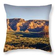 Sunset In Sedona Throw Pillow