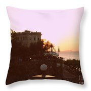Sunset In Sorrento Throw Pillow