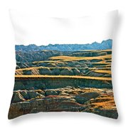 Sunset In The Badlands Throw Pillow